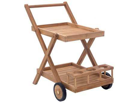 Zuo Outdoor Regatta Teak Trolley in Natural