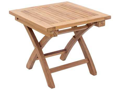 Zuo Outdoor Starboard Teak 19.7 Square Side Table in Natural