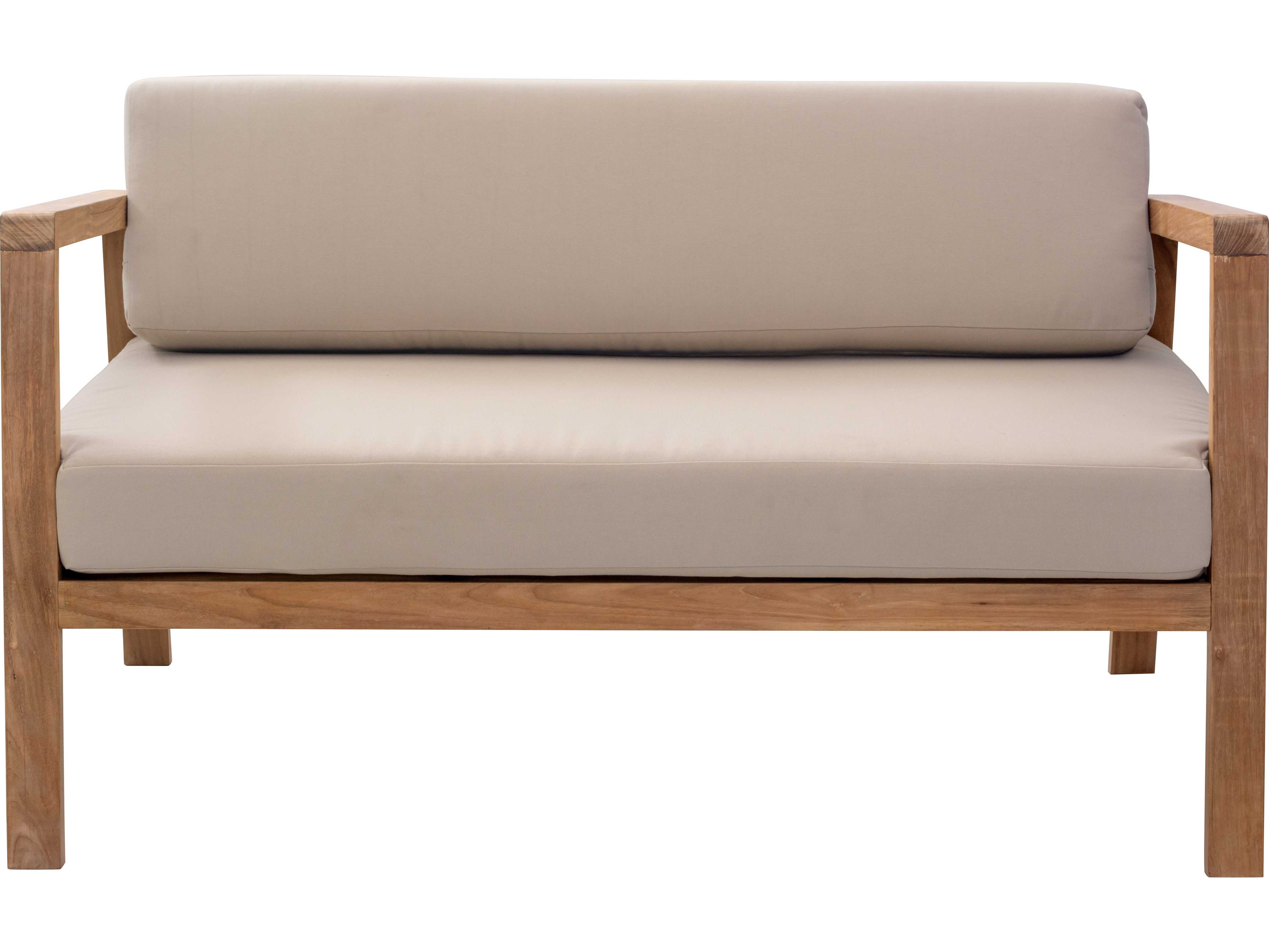 Zuo Outdoor Bilander Teak Sofa in Natural