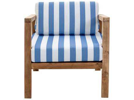 Zuo Outdoor Bilander Teak Arm Chair in Natural