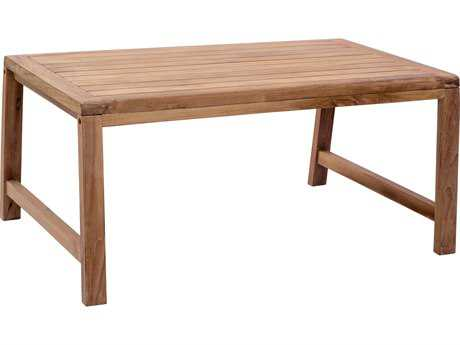 Zuo Outdoor Bilander Teak 39.40 x 27 Rectangular Coffee Table in Natural