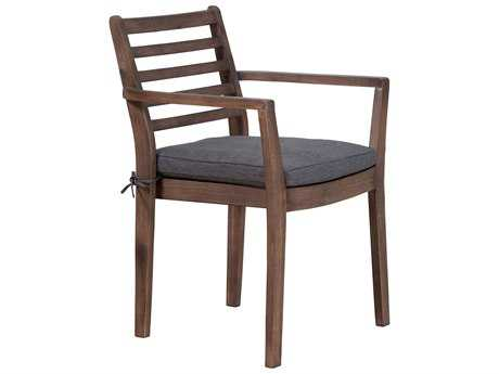 Zuo Outdoor Sancerre Acacia Wood Dining Chair in Natural & Gray (Sold in 2)