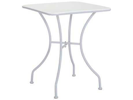 Zuo Outdoor Oz Steel 23.6 Square Dining Table in White