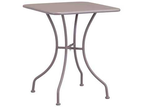 Zuo Outdoor Oz Steel 23.6 Square Dining Table in Taupe