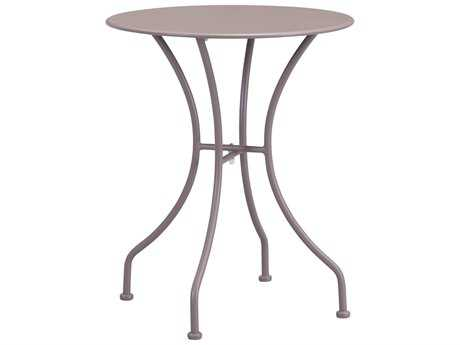 Zuo Outdoor Oz Steel 23.6 Round Dining Table in Taupe