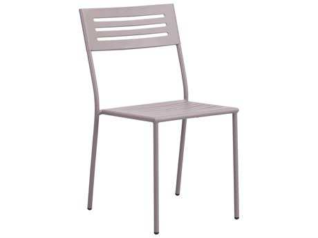 Zuo Outdoor Wald Steel Dining Chair in Taupe (Sold in 2)