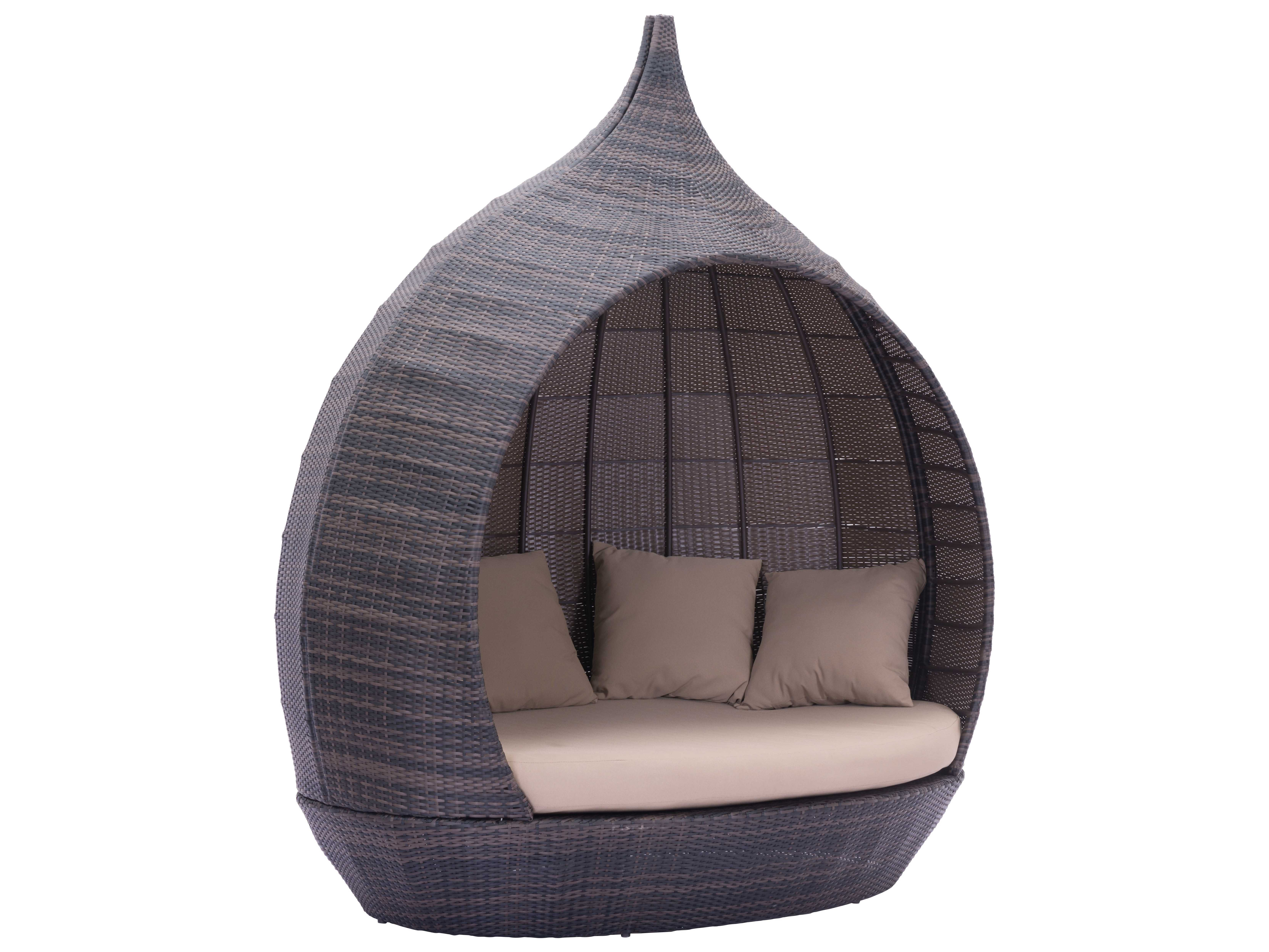 Strange Zuo Outdoor Martinique Beach Aluminum Polyurethane Weave Day Bed In Brown Beige Bralicious Painted Fabric Chair Ideas Braliciousco