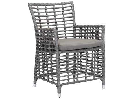 Zuo Outdoor Sandbanks Aluminum Polyethylene Dining Chair in Gray (Sold in 2)