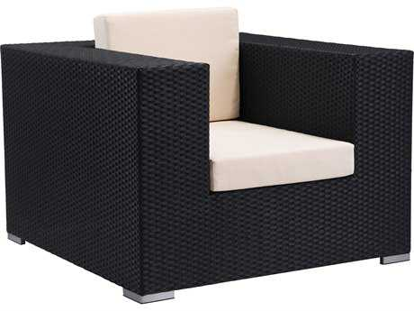 Zuo Outdoor Cartagena Aluminum Wicker Arm Chair in Espresso