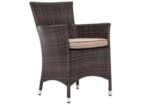 Zuo Outdoor South Bay Dining Chair in Brown