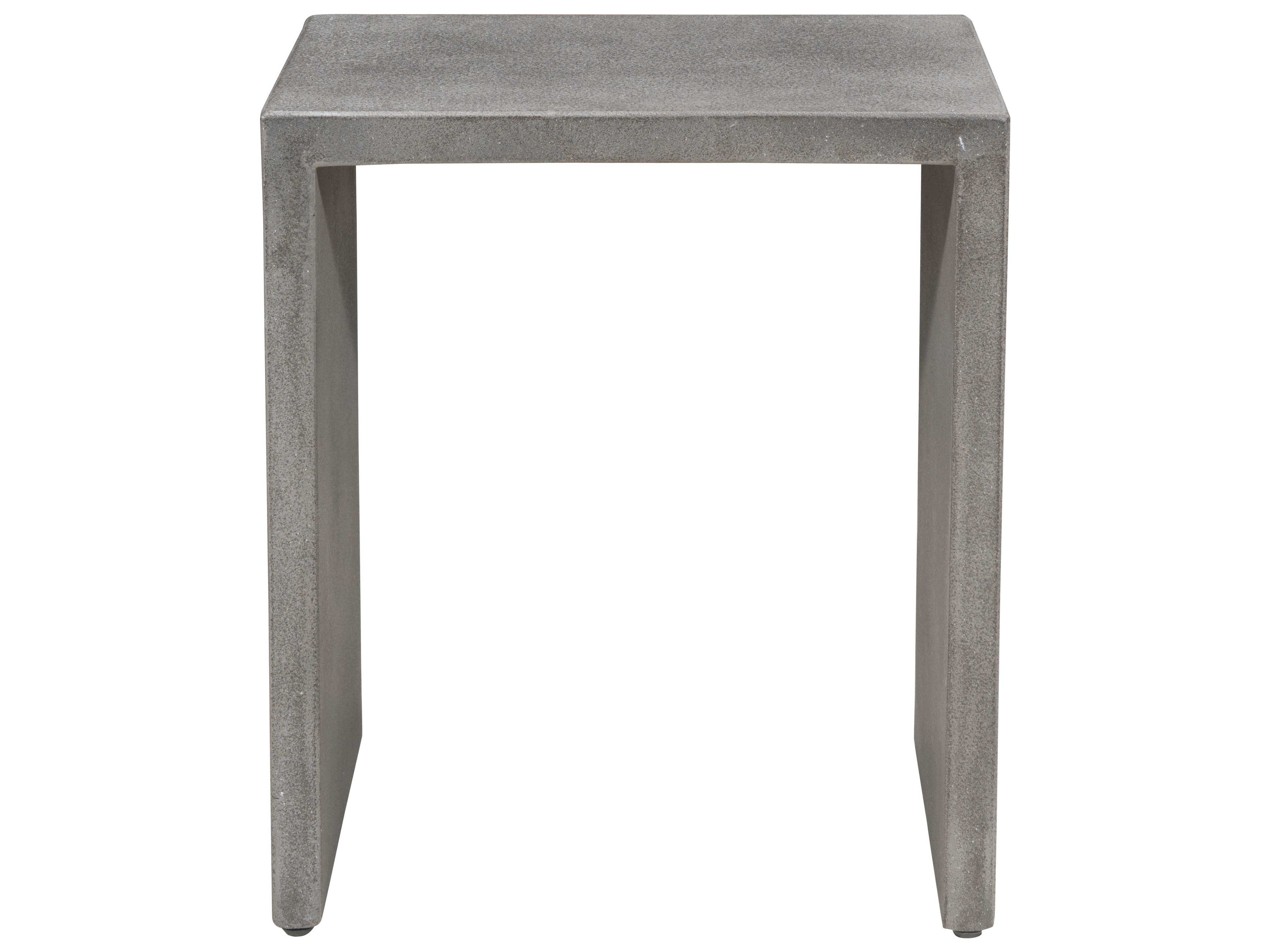 Zuo Outdoor Mom Polycement X Rectangular Nesting Side - Outdoor cement side table