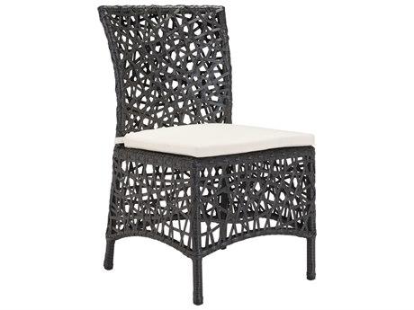Zuo Outdoor Santa Cruz Aluminum Wicker Chair Terra in Brown PatioLiving