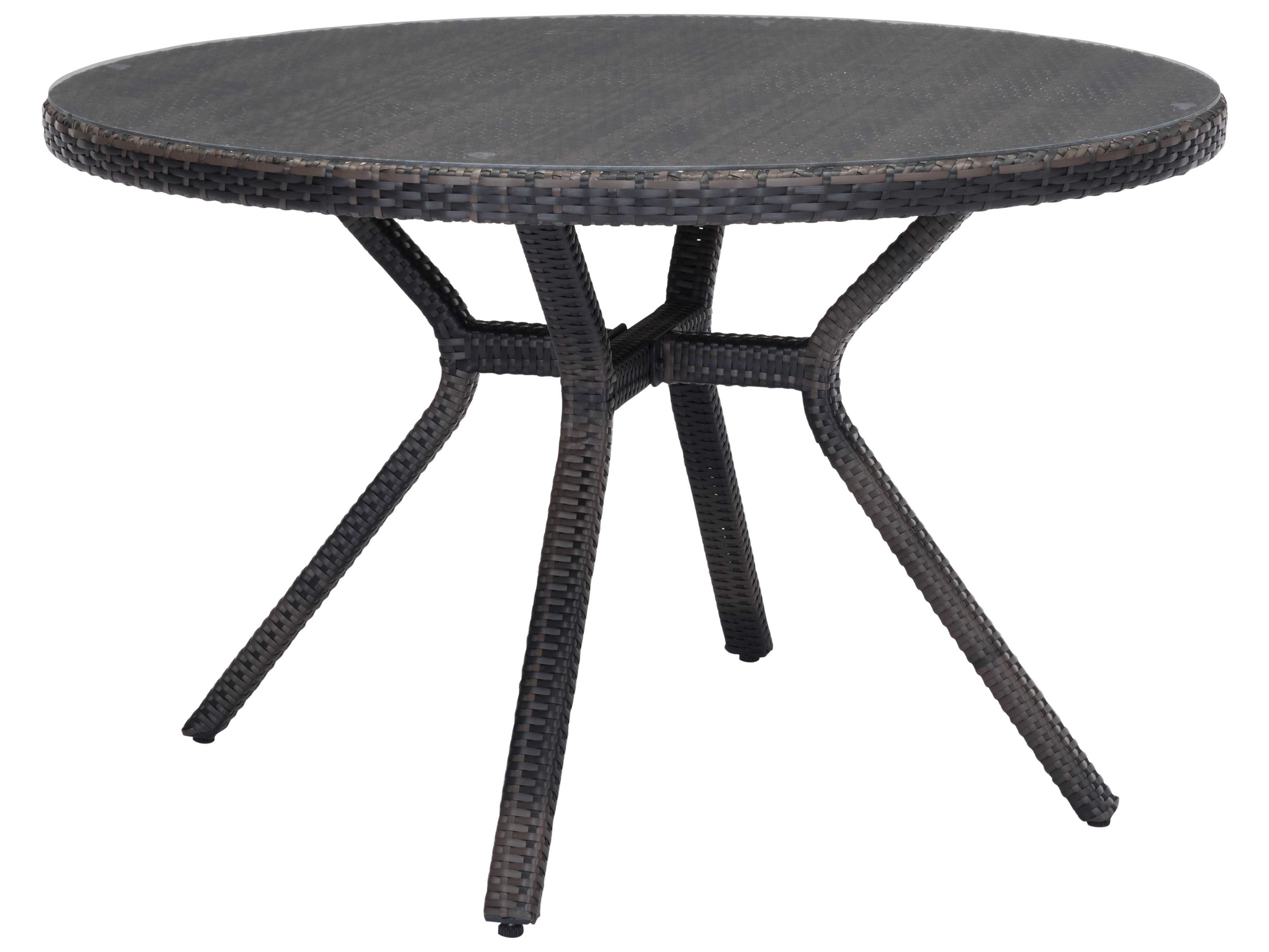 Round Glass Dining Table 48 Inches: Zuo Outdoor Mendocino Aluminum Synethetic Weave 48 Round