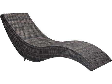 Zuo Outdoor Hassleholtz Beach Aluminum Wicker Beach Chaise Lounge in Brown  sc 1 st  PatioLiving : beach chaise lounge - Sectionals, Sofas & Couches