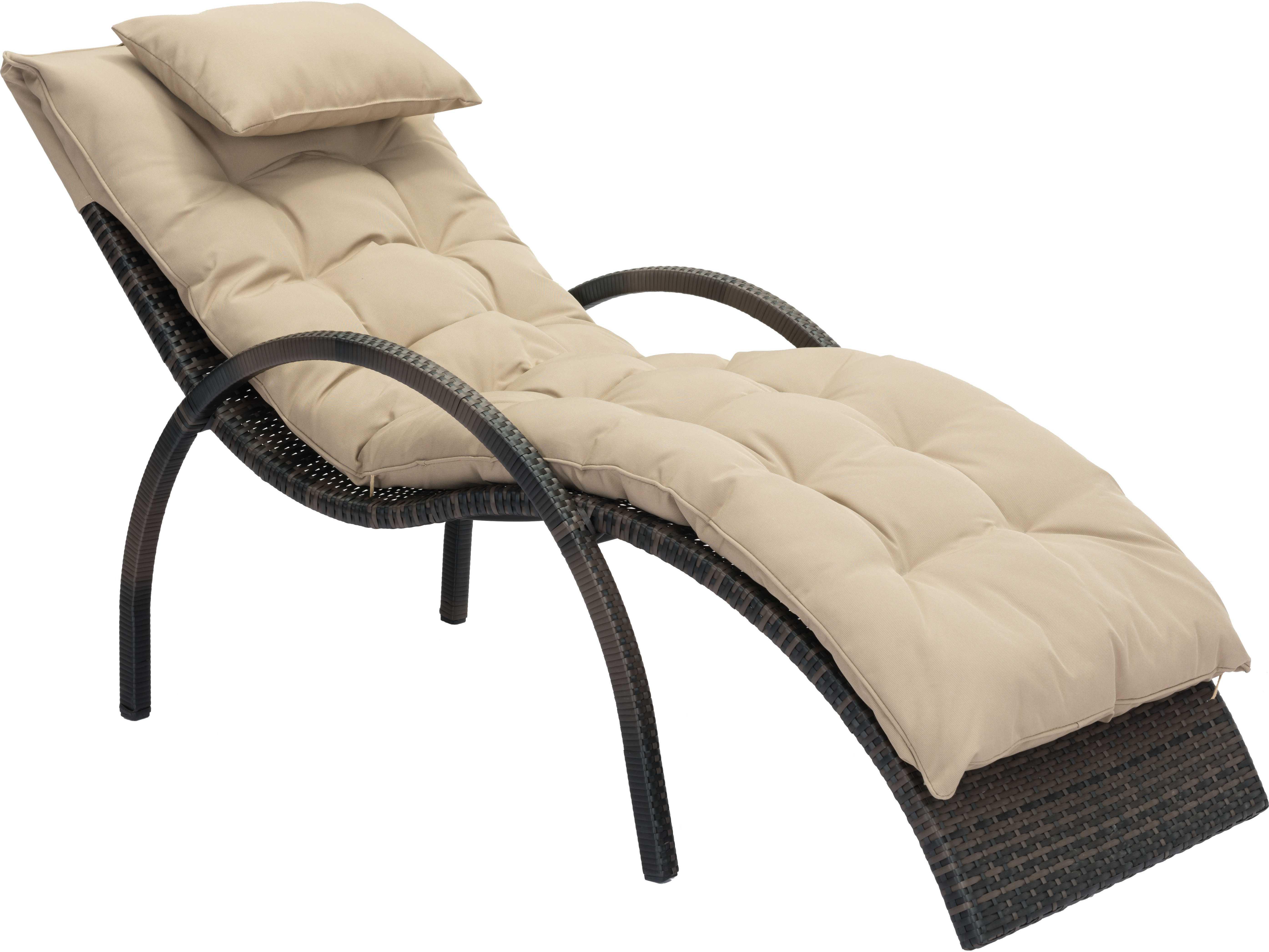 Zuo outdoor eggertz beach aluminum wicker beach chaise for Beach chaise lounges