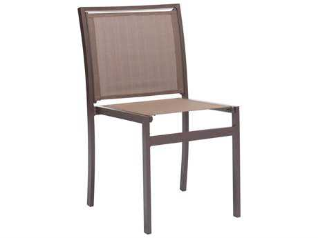 Zuo Outdoor Mayakoba Aluminum Mesh Dining Chair in Brown (Sold in 2) - Sold in Multiples of 2 Only ZD703846
