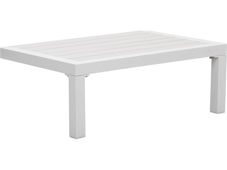 Zuo Outdoor Santorini White Aluminum 28''W x 18.1D Rectangular Side Table