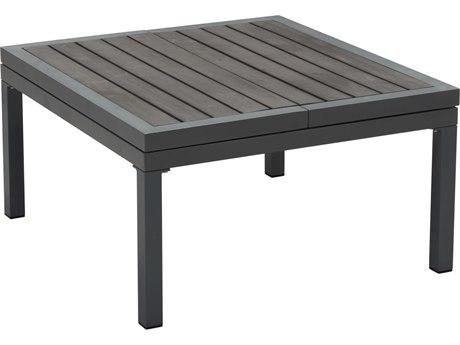 Zuo Outdoor Santorini Dark Gray Aluminum 33.5-44.5''W x 30.7'D Rectangular Lift Top Coffee Table