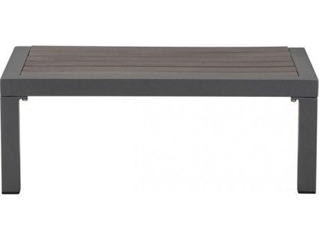 Zuo Outdoor Santorini Dark Gray Aluminum 28''W x 18.1D Rectangular Side Table