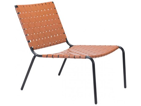 Zuo Outdoor Beckett Tan Steel Lounge Chair