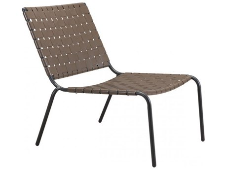 Zuo Outdoor Beckett Espresso Steel Lounge Chair