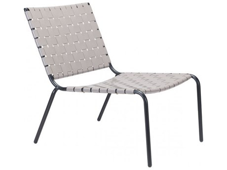 Zuo Outdoor Beckett Light Gray Steel Lounge Chair