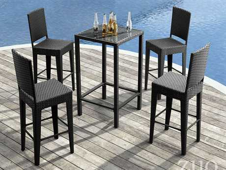 Zuo Outdoor Anguilla Wicker Bar Dining Set