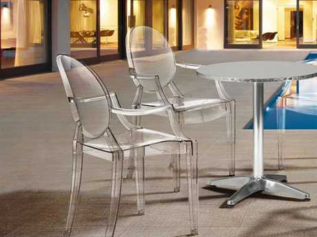 Zuo Outdoor Anime Aluminum Polycarbonate Casual Dining Set