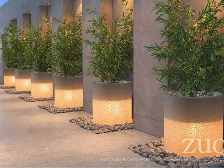 Zuo Outdoor Atla Resin in Planter Set