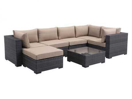 Zuo Outdoor Bocagrande Wicker Sectional Lounge Set