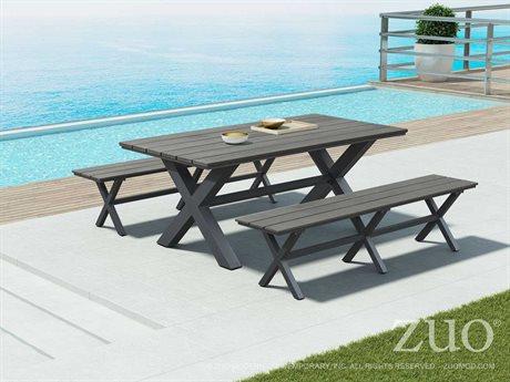 Zuo Outdoor Bodega Aluminum Polywood Dining Set