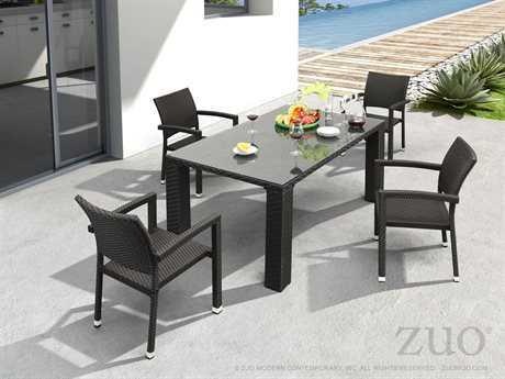 Zuo Outdoor Boracay Aluminum Wicker Dining Set