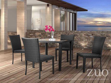 Zuo Outdoor Arica Aluminum Wicker Dining Set