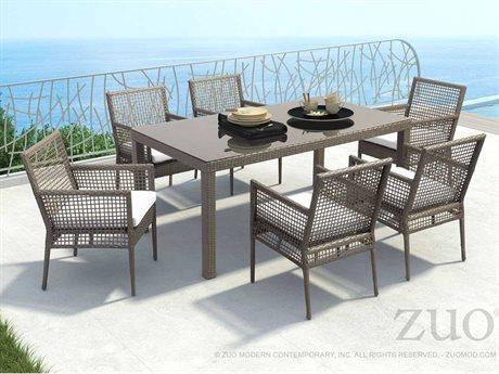 Zuo Outdoor Coronado Aluminum Wicker Dining Set