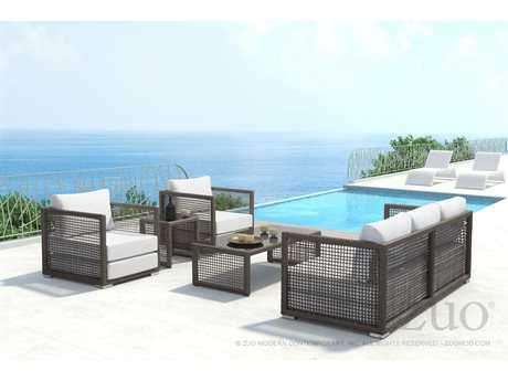 Zuo Outdoor Coronado Aluminum Wicker Lounge Set