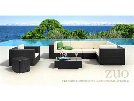 Zuo Outdoor Cartagena Wicker Sectional Lounge Set