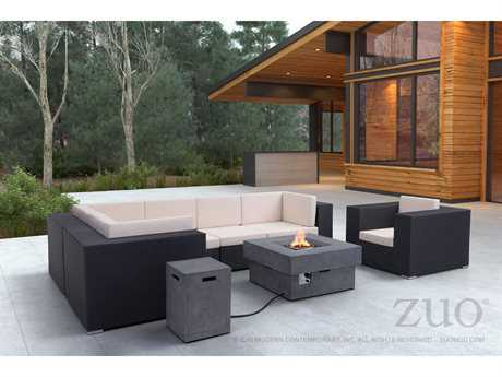 Zuo Outdoor Cartagena Aluminum Wicker Lounge Set