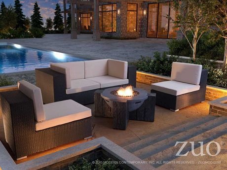 Zuo Outdoor Cartagena Wicker Lounge Set