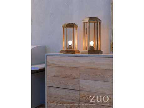 Zuo Outdoor Latter Teak Small & Large Floor Lamp