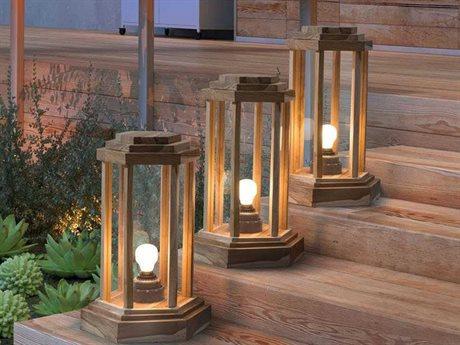 Zuo Outdoor Latter Teak Large Floor Lamp