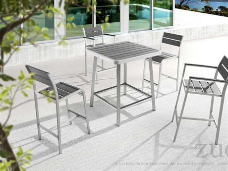 Zuo Outdoor Megapolis Aluminum Faux Wood Bar Set
