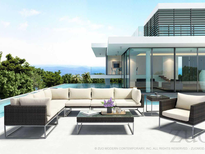 Zuo modern ipanema outdoor lounge set ls modern