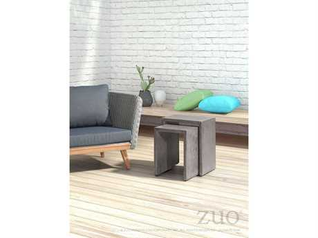 Zuo Outdoor Grace Bay Acacia Wood Wicker Lounge Set