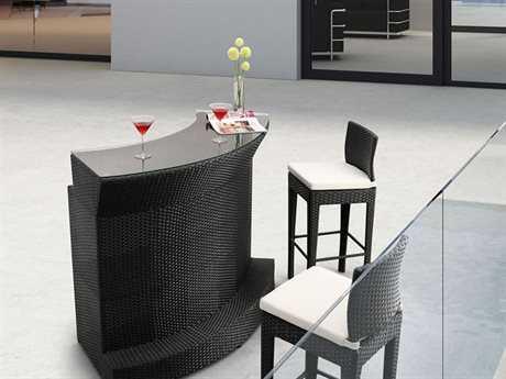Zuo Outdoor Negril Aluminum Wicker Bar Set