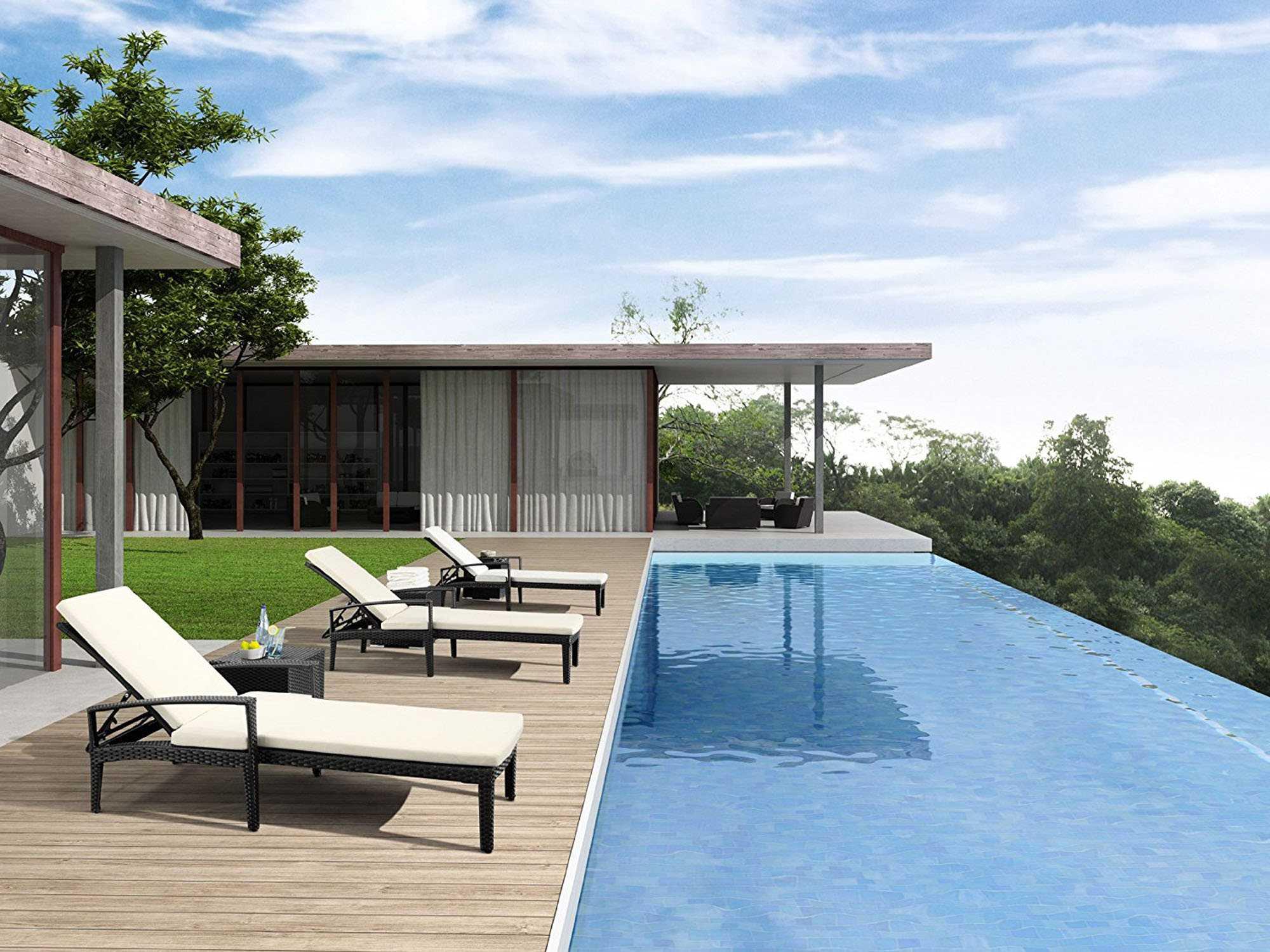 Zuo outdoor phuket wicker pool lounge set phuketlngset for Outdoor furniture phuket
