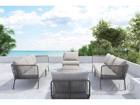 Zuo Outdoor Pier Aluminum Wicker Lounge Set