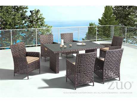 Zuo Outdoor Pinery Aluminum Wicker Dining Set