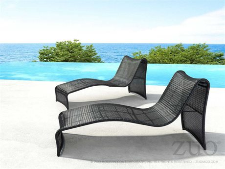 Zuo Outdoor Rocky Beach Aluminum Wicker Lounge Set
