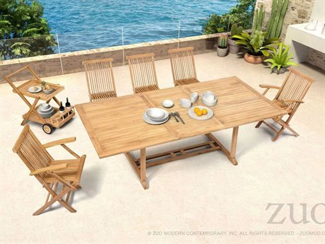 Zuo Outdoor Regatta Teak Dining Set