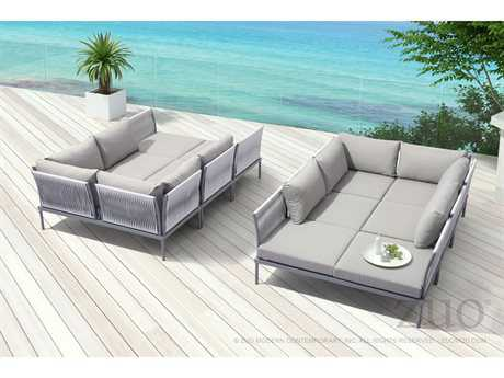 Zuo Outdoor Sand Beach Aluminum Sectional Lounge Set